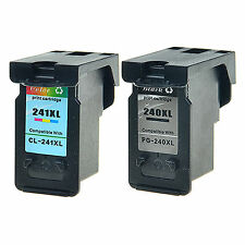 2 Pack For Canon PG-240XL CL-241XL Black Color Ink Cartridge PIXMA MG2220 MG3222