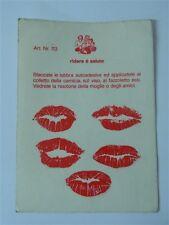 Foglio da 5 adesivi Labbra Bacio Kiss Rossetto rosso Scherzo Carnevale R49