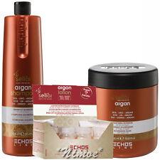 Argan Kit3 Seliar ® Lotion 12 x 13ml Vials Shampoo 1Lt + Mask 1000ml Semi Lino