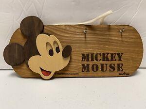 Vintage Disney Mickey Mouse key rack wood wall hanging