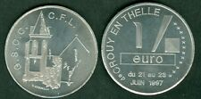 1 EURO TEMPORAIRE DES VILLES DE CROUCY EN THELLE  1997  ETAT  NEUF