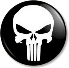 "Punisher Skull Logo 1"" 25mm Pin Button Badge Halloween Marvel Comic Books Cult"