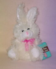 MINI WHITE BUNNY *BIG EYES * PINK NOSE *NEW * CHOCOLATE SCENTED * 9 INCH