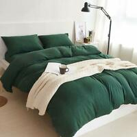 Douh Jersey Knit Cotton Duvet Cover Set 3-Pieces Full Comforter Cover And Pillow