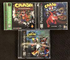 Crash Bandicoot 1 2 3 Warped Ps1 Sony PlayStation 1 Games Pre-owned
