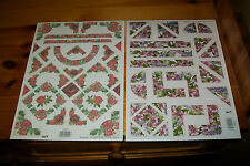 2 RELIEF SHEETS CORNERS AND FRAMES  FROM TBZ 1 SHEET = 28X20 CM NEW NEW