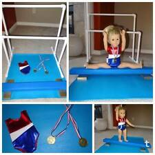 AMERICAN GIRL DOLL GYMNASTICS BALANCE BEAM PARALLEL BARS MAT LEOTARD SHIPS DAILY