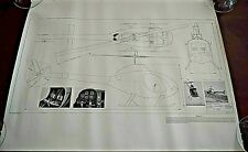 Helicopter, RotoWay, Exec, Plans, Blueprints, 1980, Instructions, Kit, Package