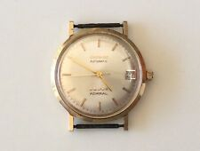 Vintage Solid 14K GOLD LONGINES ADMIRAL 5 STAR WATCH Automatic Date RUNS!