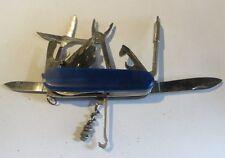 Couteau bleu multiple acier – 17  fonctions