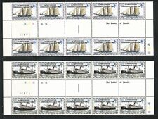 Falkland Islands: 1982; scott 352-353 x 10 with intespace thematic ships... FA13