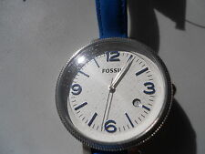 Fossil womens analog watch leather band.quartz,battery & water resistant.ES-3279