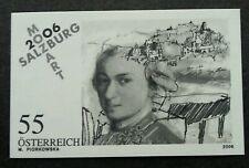 Austria Mozart In Salzburg 2006 Music (imperf black print stamp) MNH