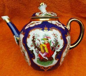 Rare Franklin Mint Hand Painted 22ct Gold Georgian Teapot & CoA C1985