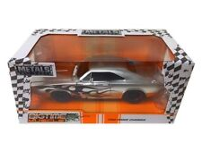 """JADA 1968 DODGE CHARGER SILVER """"BIG TIME MUSCLE"""" 1/24 DIECAST MODEL CAR 99367"""