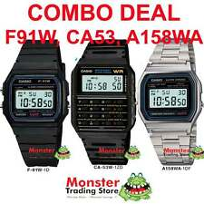 COMBO DEAL FREE POST FROM SYDNEY CASIO RETRO 1 x F91W + 1 x CA53W 1 X A158WA