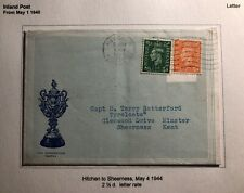 1944 Hitched England Hardness Rose Specialist Letter Cover To Sheerness