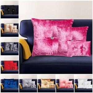 Luxury Crushed Velvet Filled Cushions Small Medium Large Diamante Cushion Covers