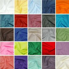 100% Plain Cotton Poplin Fabric Rose & Hubble Solid Plain Coloured