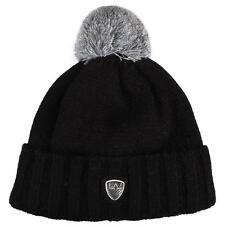 Emporio Armani EA7 Stand Alone Bobble Beanie Hat Black RRP £50