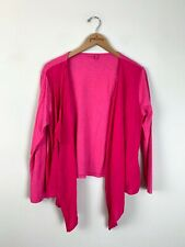 Fresh Produce Hot Pink Soft Cotton Long Sleeve Open Front Cardigan Medium M