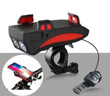 bike horn lamp & mobile phone bracket holder, 2000 mAh, 400 lumens, 5 bell modes