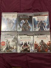 Assassins Creed Lots Ps3-  Revelations,Rogue,Creed 3,Creed 2, Creed, Brotherhood