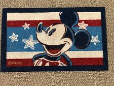 Disney Mickey Mouse Doormat Americana New with Tags