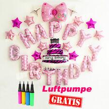 Luftballon set Ballons Folienballon Geburtstag happy birthday Macaron Party