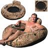 Schwimmliege Luftmatratze Badeinsel Schwimmsessel Reifen Schwimmring Lehne 135cm