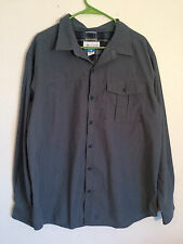 Columbia Full Button Up Mens XL Omni-Wick Long Sleeve Shirt,