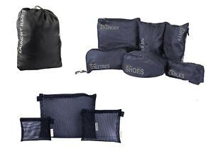 Travel Bag Set Laundry Toiletries Shoe Cable Storage Organiser Sport Gym Outdoor