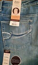 Wrangler Aura Slimming Jeans Sz 10 Tall 34x35 no gap waistband WUT74DR Women's