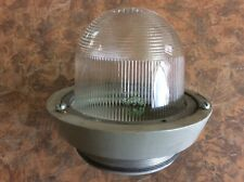 2- Vintage Crouse-Hinds Mod.13720-0 Explosion Proof Glass Light Globes Steampunk