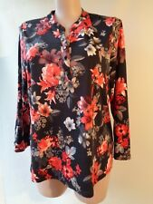 Millers plus size 18 black red floral print long sleeve top