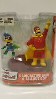 THE SIMPSONS MCFARLANE RADIOACTIVE MAN & FALLOUT BOY ACTION FIGURE IN PACKAGE