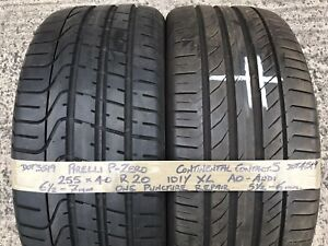 2 Part Worn Tyres 255 40 20 Pirelli Continental 2554020 AO Audi Q3 Alloy Wheels