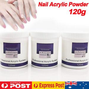 120g Acrylic Powder Pink Clear White Nail Art Manicure False Tip DIY Design Tool