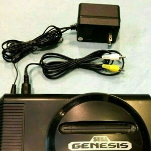 New AV Cable & AC Power Cord Bundle for SEGA Genesis 1 (Model: 1601)
