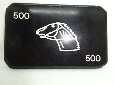 Vintage Large Rectangle 500 illegal Greek Casino Poker Chip with Horse Head