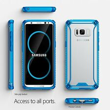 Blue For Galaxy S8 Poetic Affinity Slim Fit Anti-Slip Side Grip Bumper Case