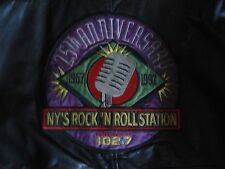 Wnew-Fm 25Th New York'S Rock 'N Roll Station Leather Bomber Jacket Coors Light