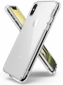 iPhone X Case Ringke [FUSION] Crystal Clear Transparent PC Back TPU Bumper [D...