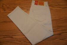 NWT MEN'S LEVI JEANS 502 Multiple Sizes Regular Taper Below Waist Stretch Khaki