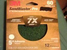 3M SANDBLASTERS PR 5 INC NO-HOLE SANDING DISC 60 COARSE 12 DISK NIP