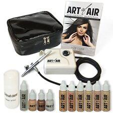 Sistema De Maquillaje Profesional En Aerógrafo Tono Claro A Medio Base Rubor