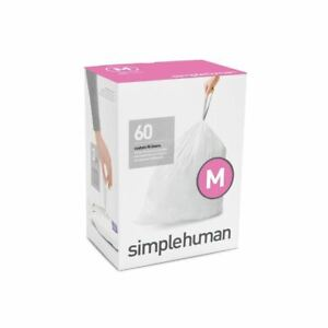 Simplehuman (3 Packs x 20) code/size M  bin bag liner