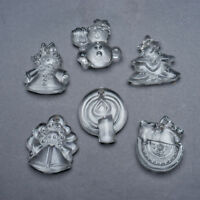 Set of 6 Vintage Goebel Crystal Christmas Ornaments West Germany Original Box #A