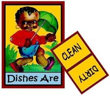 LITTLE BLACK SAMBO  Dishwasher MAGNET (Clean/Dirty)
