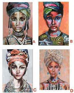 1x Tribal Woman  Lady Canvas Print Painting Art Home Decor 70x100cm 4 Designs